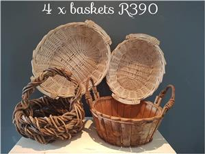 4 Baskets for sale