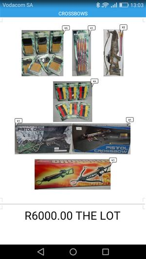 Crossbows New in boxes