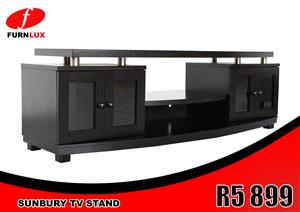 TV STAND BRAND NEW SUNBURY FOR ONLY R 5 999!!!!!!!!!!!!!