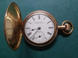Gold Pocket Watch Waltham 14C Solid gold watch