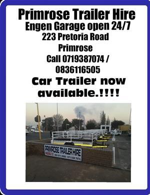 Trailer hire Primrose Engen Garage open24hrs