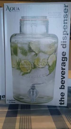 New 8.3l glass beverage dispensers