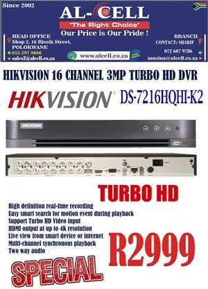 Hikvision 16 Channel DS-7216HQHI-K2 Turbo HD 3MP DVR