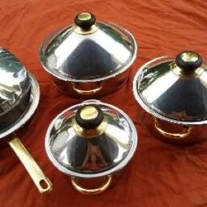 WASTING WARE 8 PIECE STAINLESS STEEL WATER-LESS POT SET