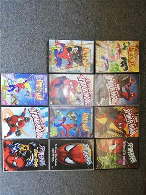 Assorted Marvel,DC and kids DVD's