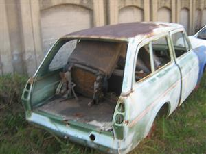 Anglia station wagon with doors, boot lid, runnig chassey, on wheels