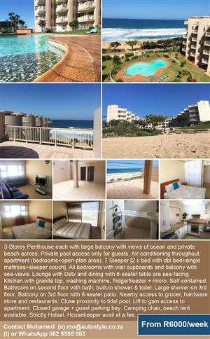 Friendly accomodation KZN self contained 3 storey penthouse UMDHLOTI