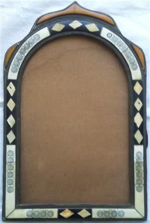 Moroccan 'camel bone' mirror/picture frame