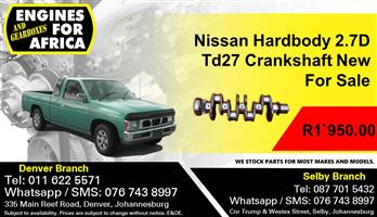 Nissan Hardbody 2.7D Td27 Cranshaft New For Sale