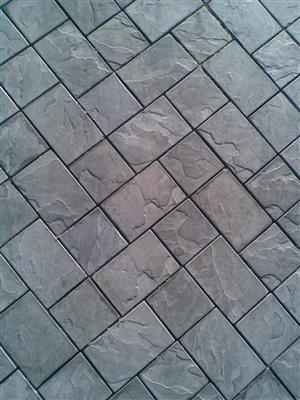 PAVING WITH STONE FACE FINISH - SPECIAL--