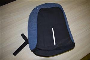 Black and blue dufflebag