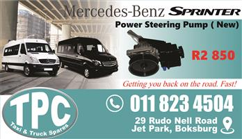 Mercedes Sprinter Power Steering Pump - New - New & Used Quality Replacement Taxi Spare Parts.