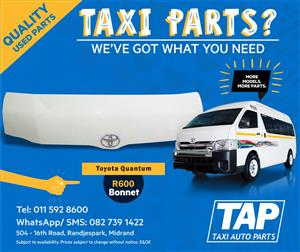 Toyota Quantum BONNET - Taxi Auto Parts quality used spares - TAP