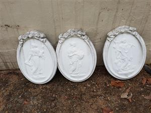 White oval wall decor for sale