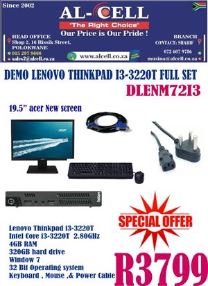 Pre-Used Lenovo Thinkpad I3 - 3220T Full Set