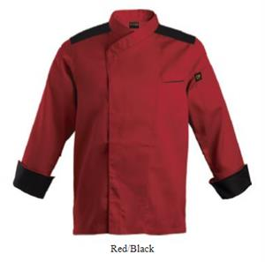 Roma Chef Jacket - Red-Black