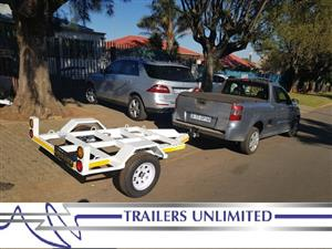 TRAILERS UNLIMITED.  1400 X 1200 OPEN DECK WATER TRANSPORTER.