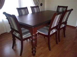 7 Piece Pecan Dining Room Set