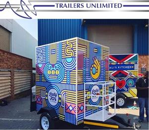 TRAILERS UNLIMITED. THE BUDGET MOBILE KITCHEN. 1800 X 1600 X 2000MM UNIT.