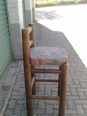 High back log chairs for sale