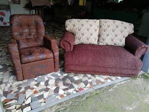 Reclining Chair Two Seater Couch
