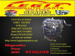 TOYOTA AVANZA   1NRF1 ENGINE FOR SALE