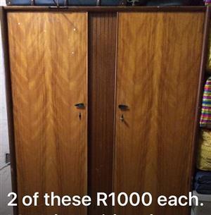 Wooden 2 door closets