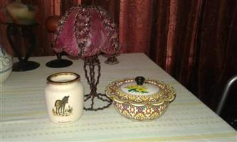 Windhoek vase and tea light Purple lamp