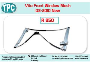 Mercedes Benz Vito Front Window Mech Only 03-2010 New for Sale at TPC
