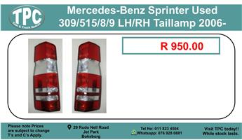 Mercedes -Benz Sprinter Used 309/515/8/9 LH/RH Taillamp 2006- For Sale.