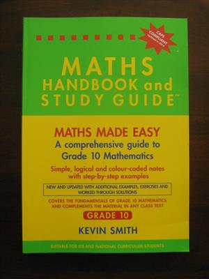 Mathematics Handbook and Study Guide Grade 10 for sale  Milnerton