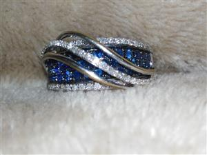Used, Diamond Sapphire Ring for sale  Roodepoort