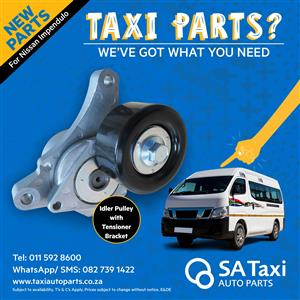 Idler Pulley With Tensioner Bracket for Nissan NV350 Impendulo - SA Taxi Auto Parts quality spares
