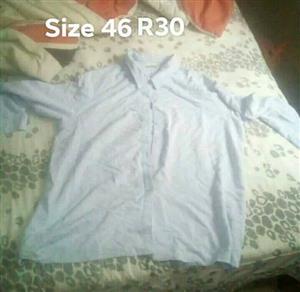 Long sleeve light blue pajama top