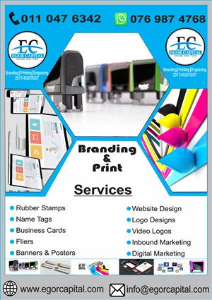 Rubber stamps, Printing, Branding, Name Tags , Websites