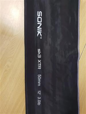 3 x Sonik fishing rods for sale sk3 XTR 50mm 12' 3.olb with bags  @ R1500 each
