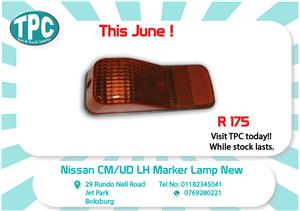 Nissan CM/UD LH Marker Lamp New for Sale at TPC