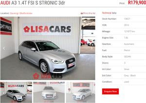 2014 Audi A3 3 door 1.4TFSI