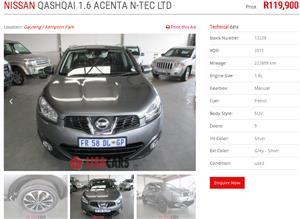 2011 Nissan Qashqai 1.6 Acenta