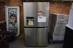 Silver LG 4 door fridge