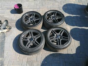 "18"" 5 /112 PCD Original AMG narrow and wides Rims with tyres for sale"