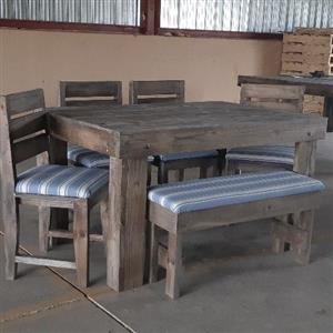 6 Seater with 4 chairs and 1 bench