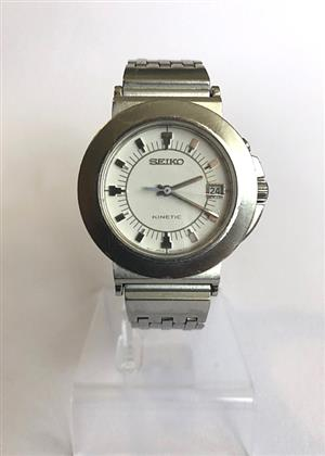 SEIKO KINETIC MEN WATCH, STAINLESS STEEL, 50 M WATERPROOF for sale  Roodepoort
