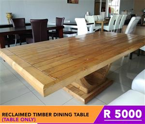 "Furniture items on Clearance - ""Hurry hurry "" Reclaimed Timber Dining Table for only R5000"