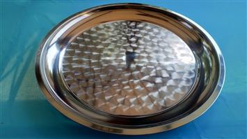 Round Stainless Steel Platter/Tray - 60cm