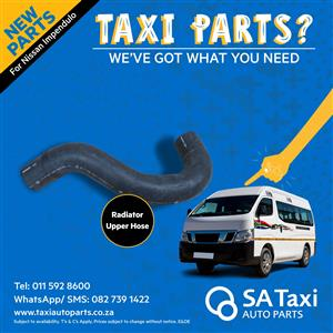 New Radiator Upper Hose for Nissan NV350 Impendulo - SA Taxi Auto Parts quality spares