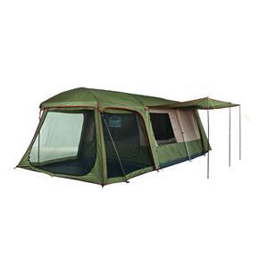 CAMPMASTER. FAMILY CABIN 900. 9 Sleeper Tent. 510cm (l) x 280cm (w) x 200cm (h)