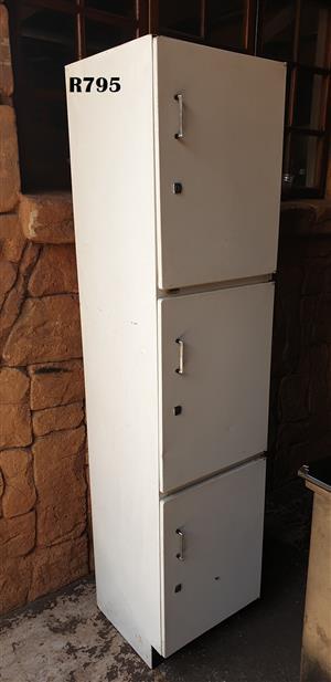 3 Door Steel Kitchen Cabinet (455x450x1910)