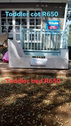 Toddler cot and bed