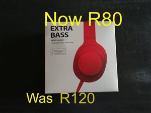 Red extra bass headphones.